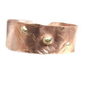 Jewelry - Handmade copper + brass bracelet cuff